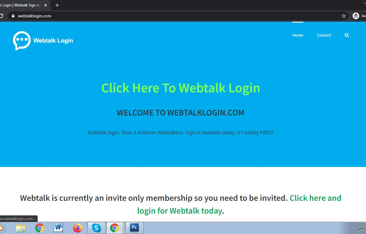 Webtalk Login